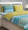 House This Sea Polyfill Green Cotton Abstract Duvet Cover