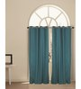 House This Green Cotton 60 x 48 Inch Solid Window Curtain - Set of 2