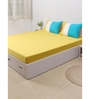 House This Yellow 100% Cotton Single Size Bedsheet - Set of 2