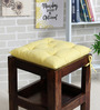 House This Yellow Cotton 16 x 16 Inch Valley of Flowers Flora Chair Pad