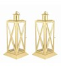 House2home Gold Iron Lantern - Set Of 2