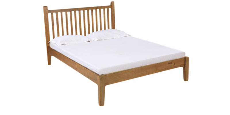 Hubert King Size Bed in Brown Polish by Asian Arts