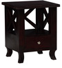 Beaumont Bed Side Table in Passion Mahogany Finish by Amberville
