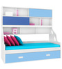 Hybrid Single Bed in Blue & White Finish by Alex Daisy