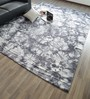 Hyde Park Grey Wool & Cotton Hand Woven Tie Dyed Reversible Flat Weave Carpet