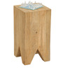 Hydra Solid Wood Side Table in Natural Finish by TheArmchair