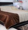 I Village Brown & White Dupion Silk 95 x 65 Inches Quilt