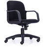 Ideal Medium Back Chair in Black Colour by Durian