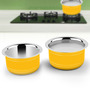 Ideale Yellow Stainless Steel Induction Friendly 2-piece Cookware Set