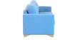 Iganzio Three Seater Sofa in Sea Blue Colour by CasaCraft