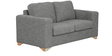 Iganzio Two Seater Sofa in Ash Brown Colour by CasaCraft