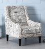 Iggy Wing Chair in Espresso Walnut Finish by Bohemiana