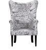 Iggy Wing Chair in Newprint Fabric Finish by Bohemiana
