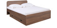 Imperial Queen Bed with Storage in Brown Colour by Pine Crest