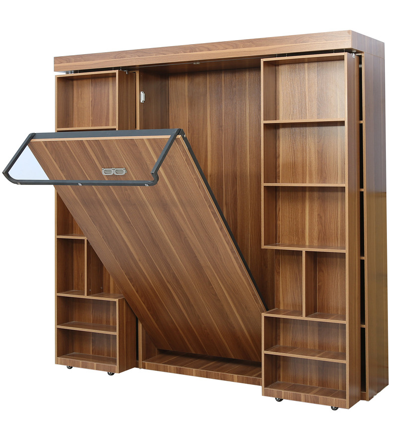 Sliding Wall Beds : Buy impress wall bed with sliding doors in bookshelf
