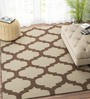 Imperial Knots Beige & Brown Wool 60 x 36 Inch Carpet