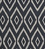 Imperial Knots Diamond Flatweave White & Grey Wool Area Rug