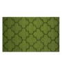 Imperial Knots Green Wool 96 x 60 Inch Trellis High Low Handtufted Carpet