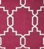Imperial Knots Red Wool Trellis Handwoven Flatweave Rug