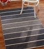 Imperial Knots Striped Grey Wool 96 x 60 Inch Carpet
