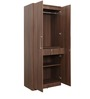 Imperial Two Door Wardrobe in Brown Colour by Pine Crest