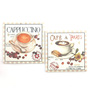 Importwala Cafe A Paris Multicolour Ceramic Trivets - Set of 2