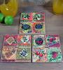 Importwala Multicolor Ceramic Olive Trivets - Set of 3