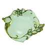 Importwala Green Ceramic Ornate Peacock Platter