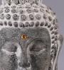 Importwala Grey Polyresin Buddha Head on Square Pedestal