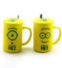 Importwala Me 2 Ceramic 400 ML Coffee Mug with Lid & Spoon- Set of 2