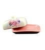 Importwala Rose Rectangle 300 ML Butter Dish