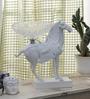Importwala White Resin & Glass Horse Figurine