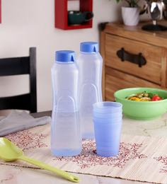 Incrizma Turquoise Plastic Drinking Set - Set Of 18