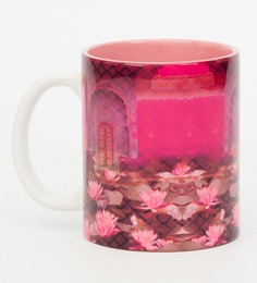 India Circus The Secret Lotus Pond Pink Ceramic 320 ML Coffee Mug