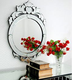 Venetian Design Silver Glass & MDF Decorative Mirror