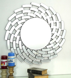 Dubstar Decorative Mirror In Silver By Bohemiana