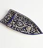 Indeasia Srijan Blue Stoneware Floral Boat Shape Platter