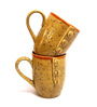 Indeasia Srijan Golden Stoneware 200 ML Coffee Cup - Set of 2