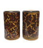 Indeasia Srijan Heritage Yellow and Brown Ceramic 50 ML Salt And Pepper Shaker - Set of 2