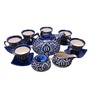 Indeasia Srijan Blue Mughal Design 200 ML Tea Set - Set of 15
