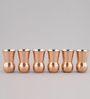 Indecrafts 500 ML Copper Beer Mugs - Set of 6