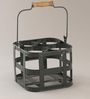 Indecrafts Black Color Iron Bottle Rack