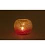 Indecrafts Pink & Orange Glass Mosaic Tealight Holder
