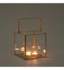 Indecrafts Gold Iron Candle Lantern