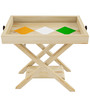 Independence Day Special Pine Wood Folding Tray Table by SmalShop
