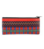 India Circus Exotic Ikkat Faux Leather Small Utility Pouch