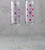India Circus Floral Lattice 150 ML Champagne Glasses - Set of 2