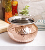 Indian Art Villa Steel & Copper 900 ML Handi