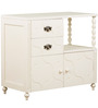 Indian Heritage Theme Dresser Table in Ivory Finish by Pink Guppy