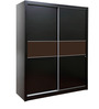 Mozart Sliding Wardrobe in Wenge Finish by HomeTown
